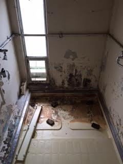 浴槽、風呂釜取り外し処分1