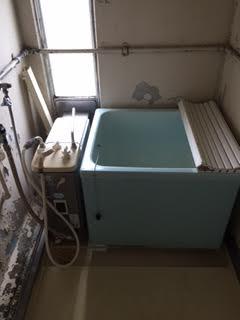 浴槽、風呂釜取り外し処分