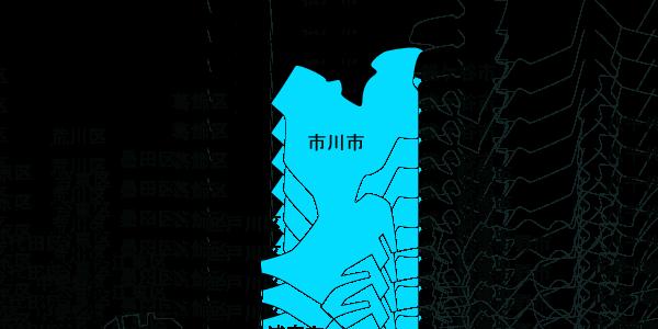 快適生活 対応エリアMAP市川市