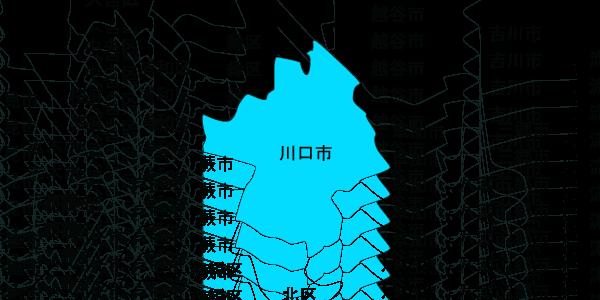 快適生活 対応エリアMAP川口市