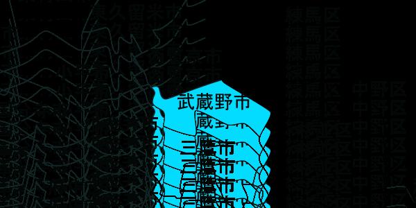 快適生活 対応エリアMAP武蔵野市